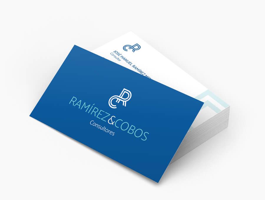 Diseño de logotipo y tarjeta de visita Ramírez & Cobos