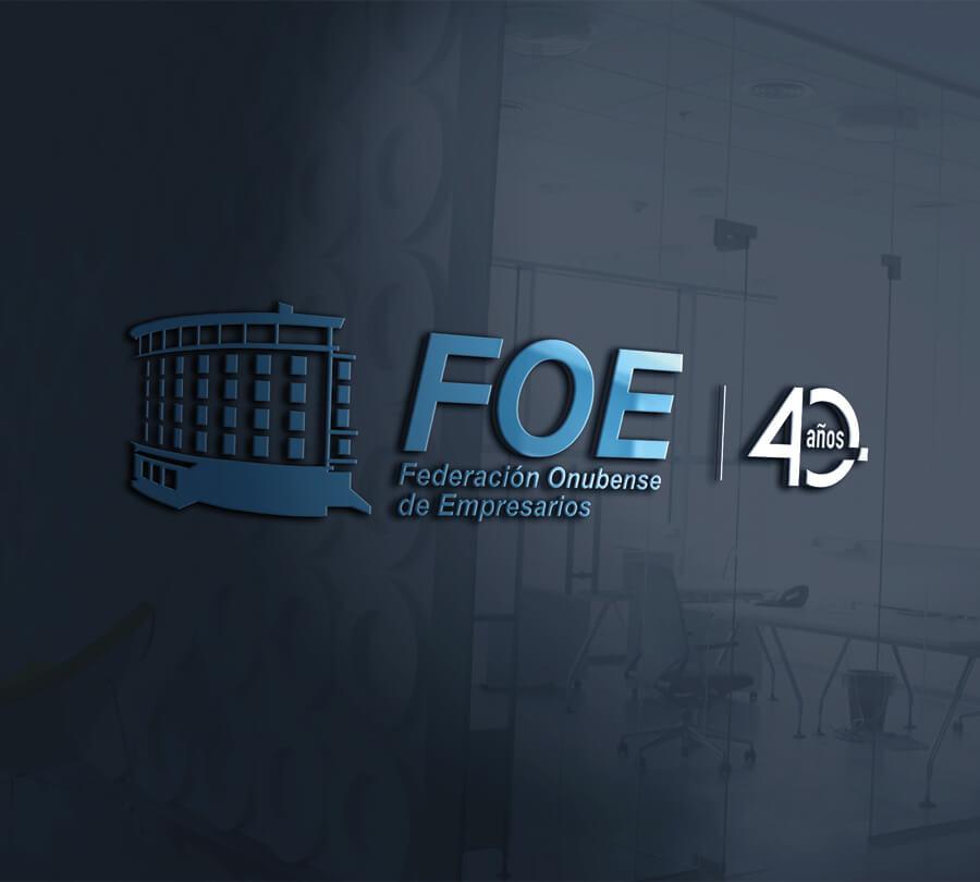 Logotipo FOE 40 Años