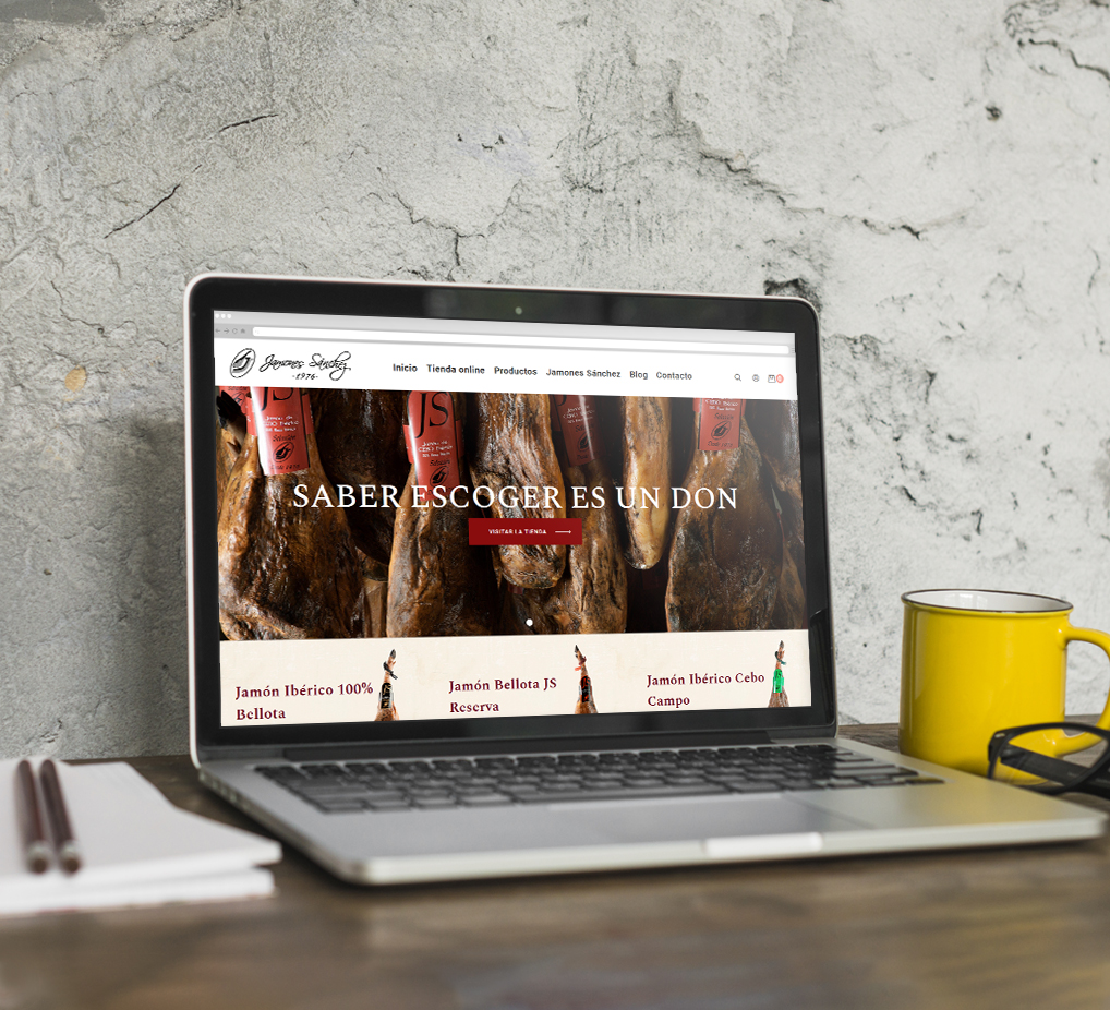 Página web Jamones Sánchez